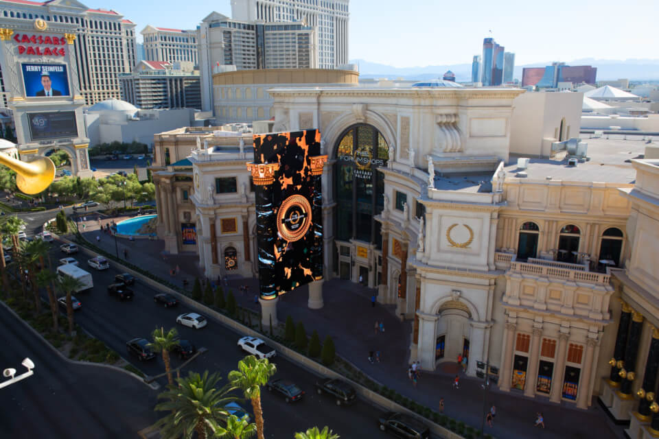 Forum Shops at Caesars Palace: A multi-media marquee